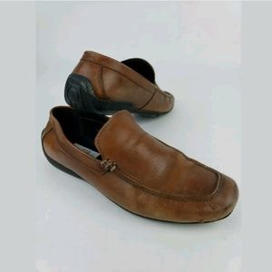 Kenneth Cole Reaction Spin Off Brown Loafers 11.5M